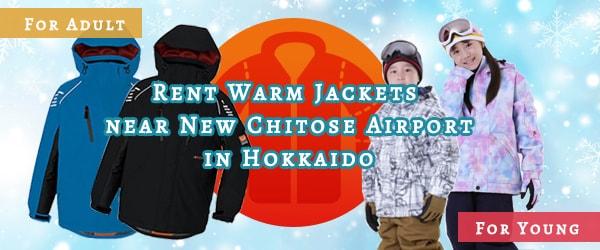 RENT-WARM-JACKETS in Hokkaido