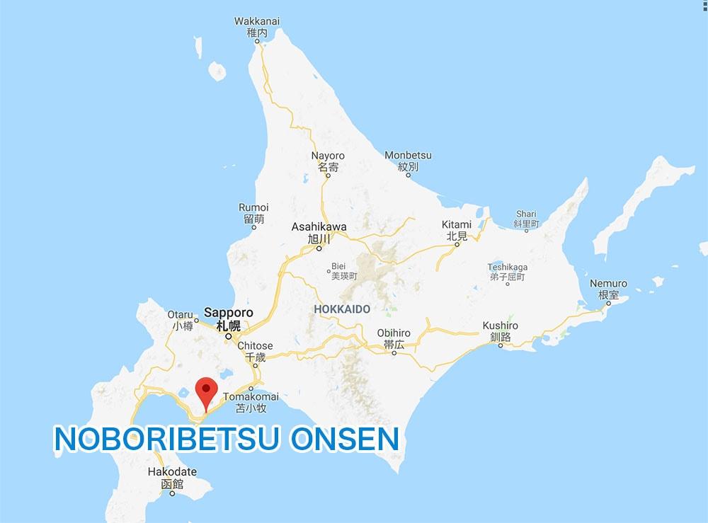 Noboribetsu Onsen MAP